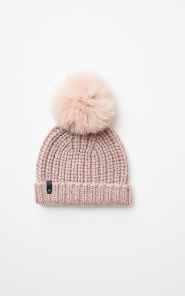 Mackage - Doris classis knit hat with fur