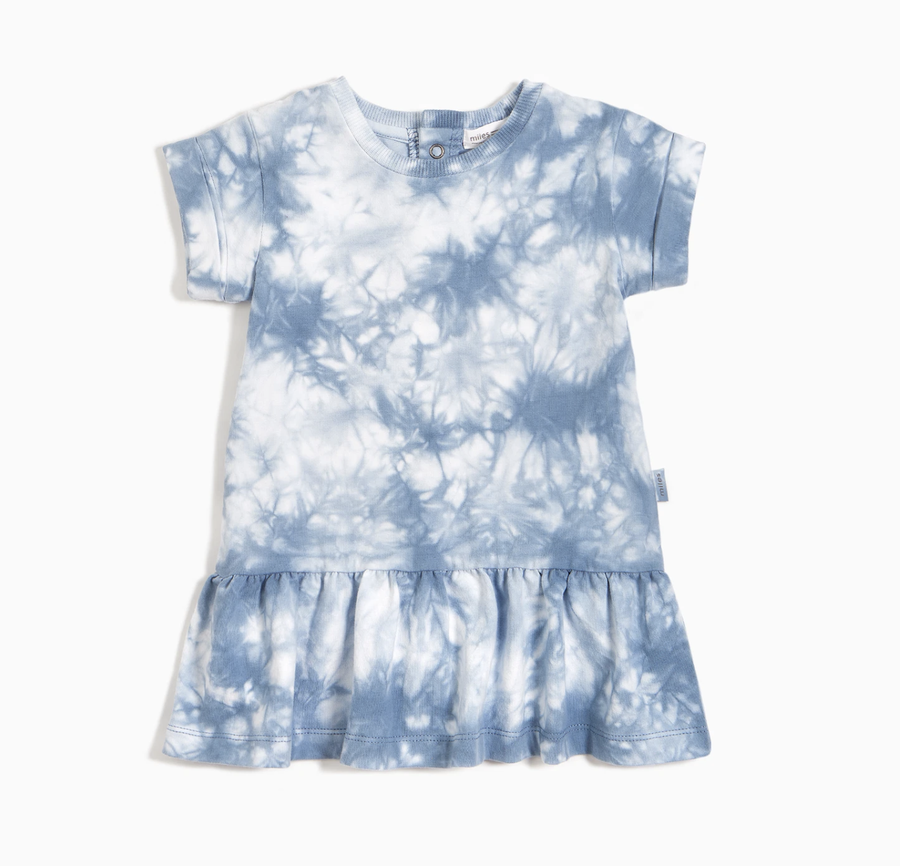 Miles Baby - Tie-Dye Jersey Dress (Blue Grey)