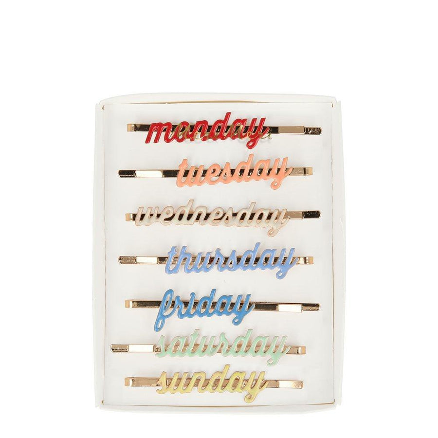 Meri Meri - Enamel Week Day Hair Slides