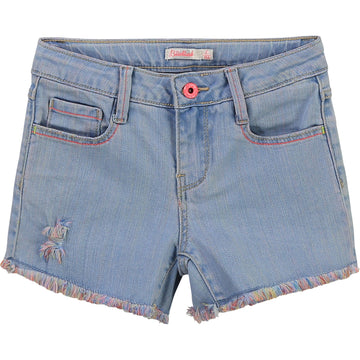 Billie Blush - Denim Shorts w/ multicolor fringe