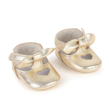 Lili Gaufrette - gold mini shoes