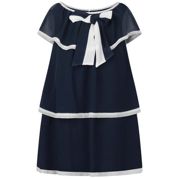 Patachou - Chiffon  Navy dress