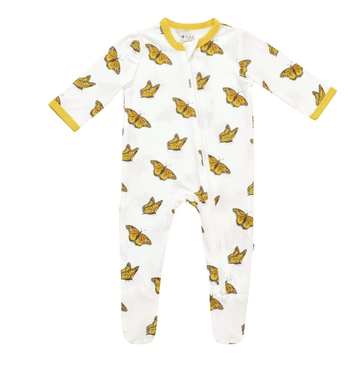 Kyte Baby - Zipper Footie - Monarch