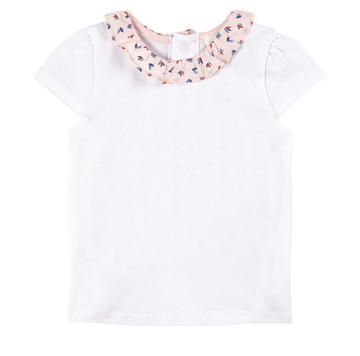 Carrement Beau - Ruffle Collar White Top