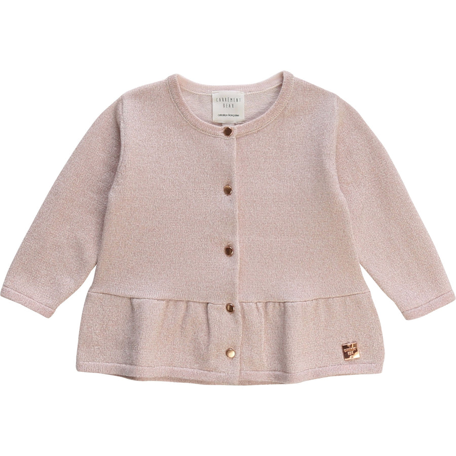 Carrement Beau - knitted button cardigan - rose