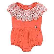 Carrement Beau - Coral Embroidery Romper