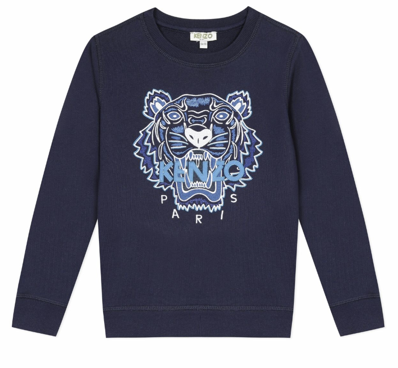 Kenzo - Navy Tiger Long sleeve Sweater