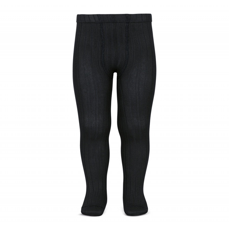 Condor Wide-Rib Basic Tights (Black)