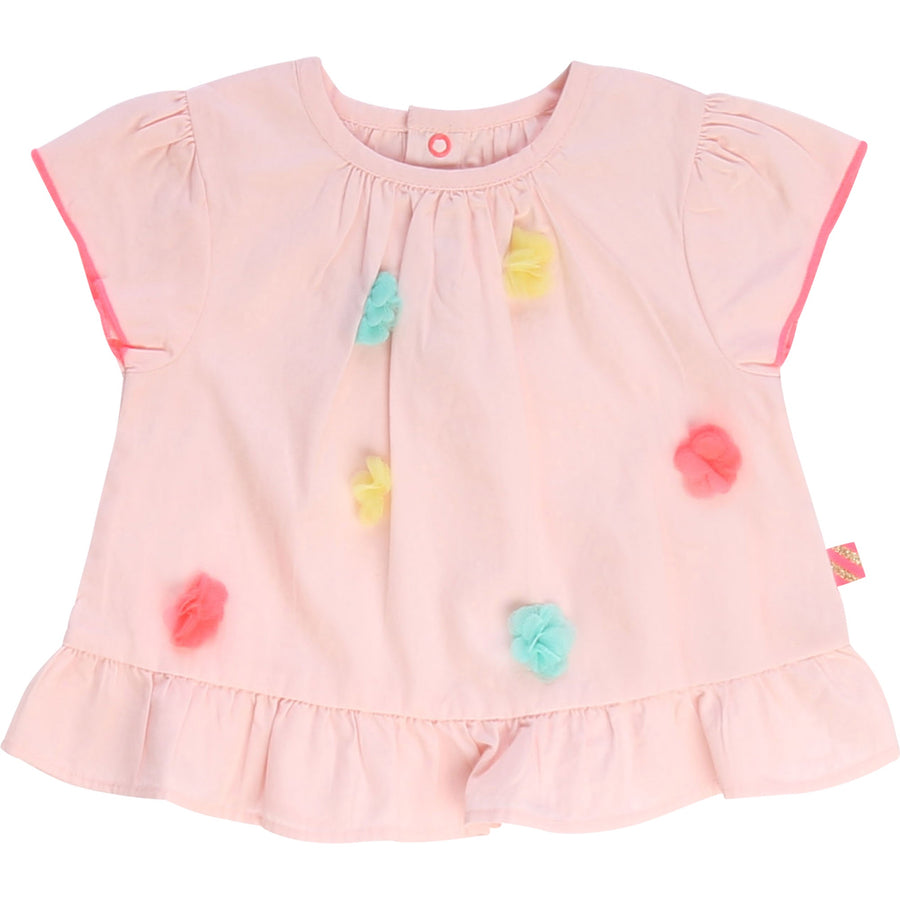 Billieblush - Blouse/Short with pompom set