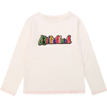 Billieblush - Ivory Logo Long sleeve tee