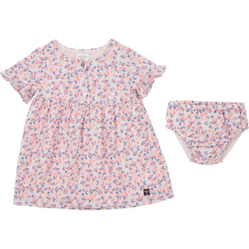 Carrement Beau - Tropical Pattern Dress w/ Bloomers