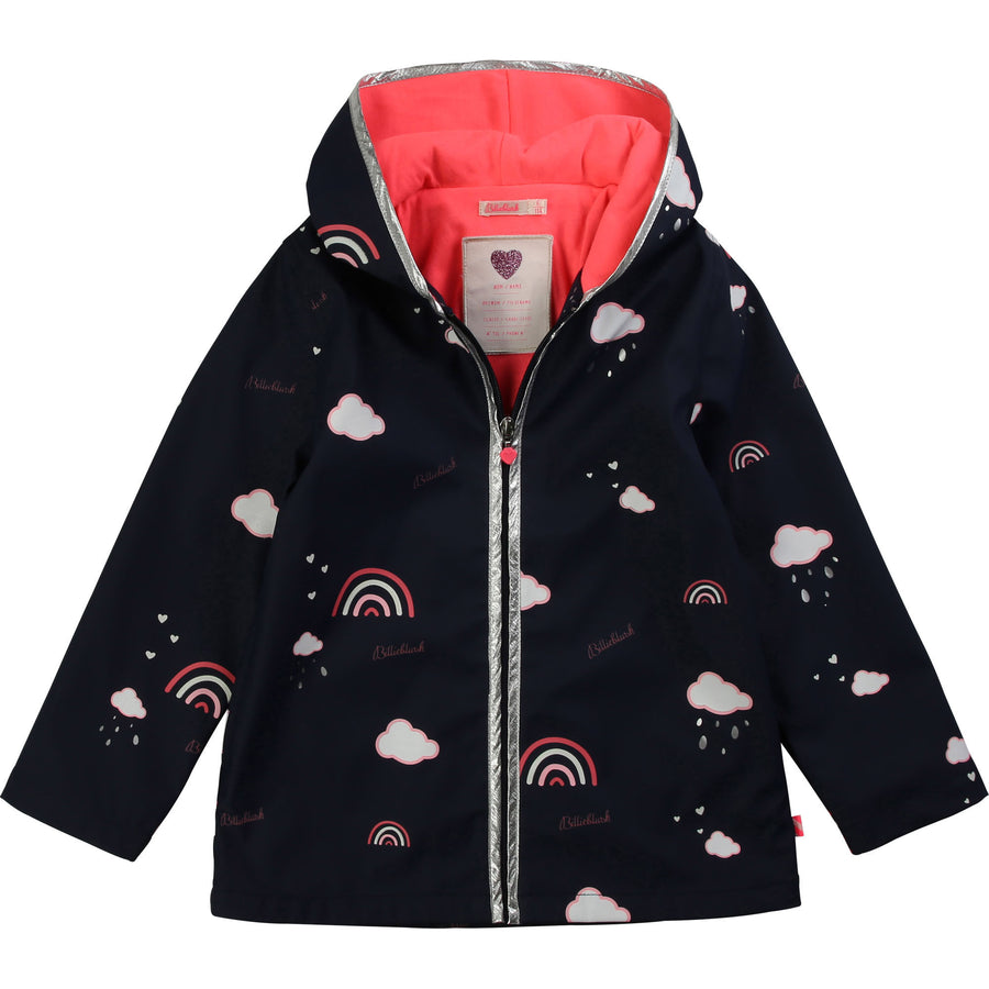 Billieblush - Rainbow raincoat - indigo blue
