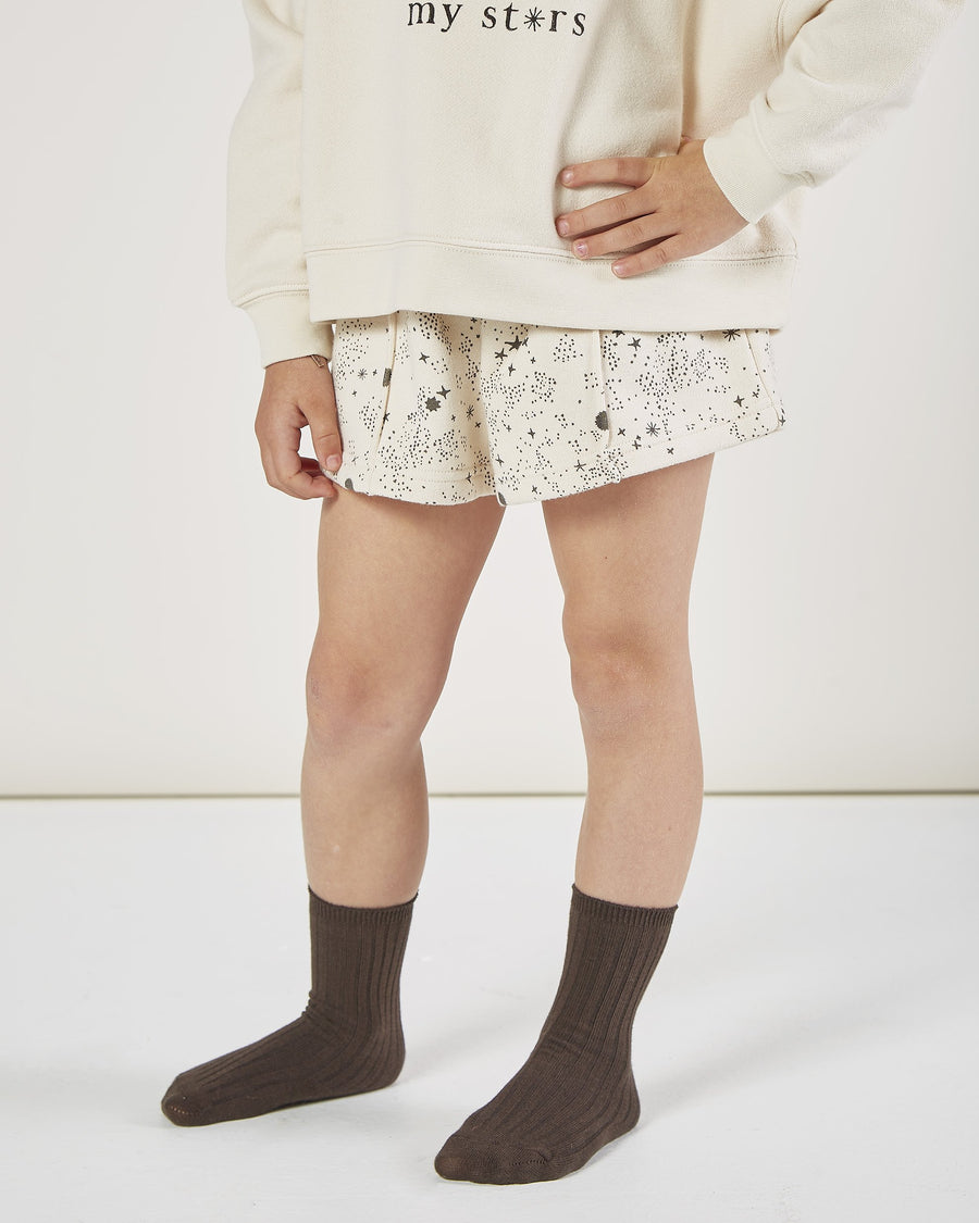Rylee & Cru - Printed Sweat Short - Natural
