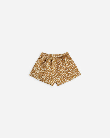 Rylee & Cru - Printed Sweat Short Goldenrod