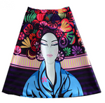 Colourful Cartoon Printed Skirt