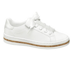 Graceland Ladies White Ribbon Lace Trainer