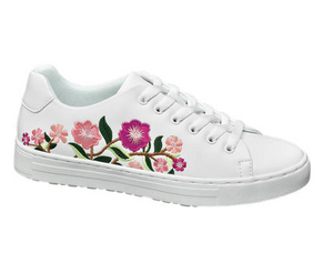 Graceland Ladies Embroidery Detail Trainer