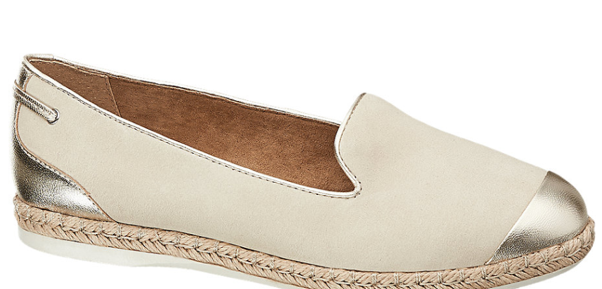 5th Avenue SLIP ON SHOE - New Collection - Beige Gold