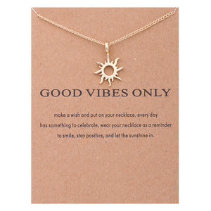 Good Vibes Pendant Necklace I Gifts for Her I Valentines Day Gifts I Jewelry for Women