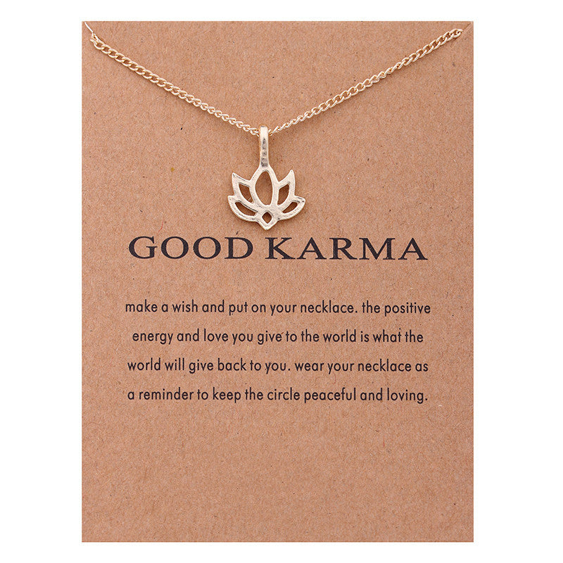 Good Karma Pendant Necklace I Gifts for Her I Valentines Day Gifts I Jewelry for Women