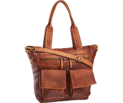 Vintage Brown Leather Hand Bag
