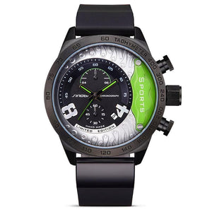 Mens Chronograph Geneva Quartz Watch