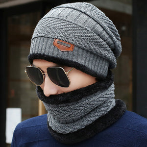 Mens Winter Hat & Collar Set -Available in Grey