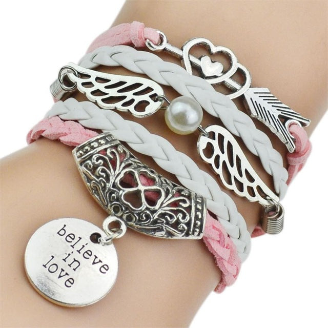 Fashion Bracelets I LOVE Charm Bracelet I Jewelry I Gifts for Her I Valentines Gifts