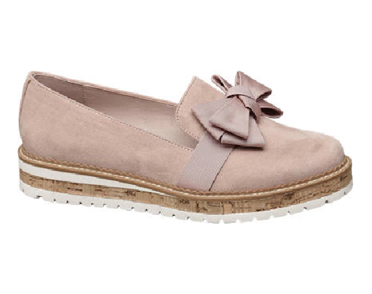 Graceland Ladies Rose Bow Loafers - New Collection- Rosa