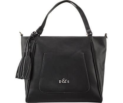 Sleek Black  Hand Bag