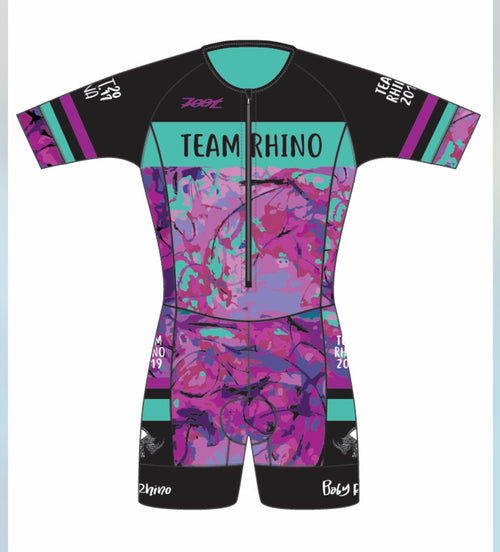 Women's Team Aero Short Sleeve Racesuit - Baby Rhino Multisport