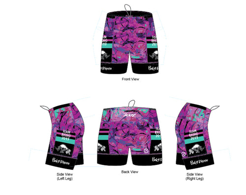 Women's Team Tri Shorts - Baby Rhino Multisport