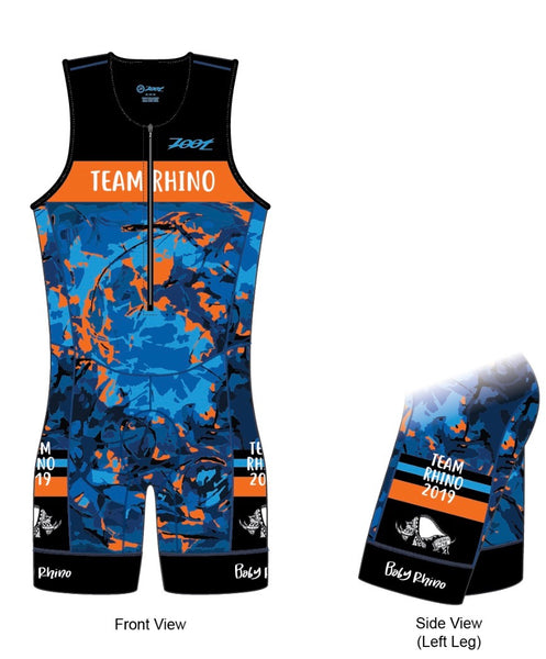 Men's Team Aero Sleeveless Racesuit - Baby Rhino Multisport