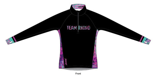 Women's Team Quarter Zip Run Jersey - Baby Rhino Multisport