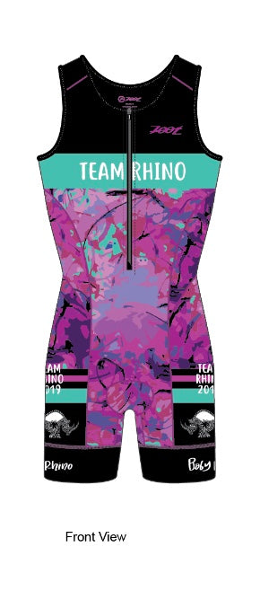Women's Team Aero Sleeveless Racesuit - Baby Rhino Multisport