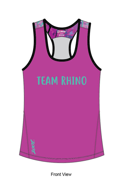 Women's Team Workout & Run Tank- Purple - Baby Rhino Multisport