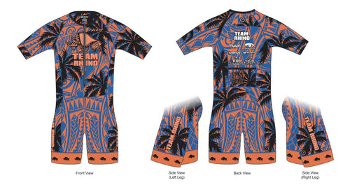 Men's Team Aero Short Sleeve Racesuit - Baby Rhino Multisport