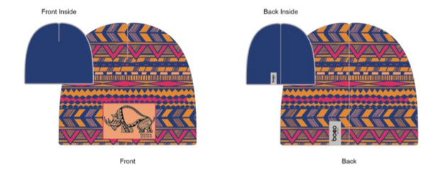 Time to Go Tribal Performance Beanie - Baby Rhino Multisport