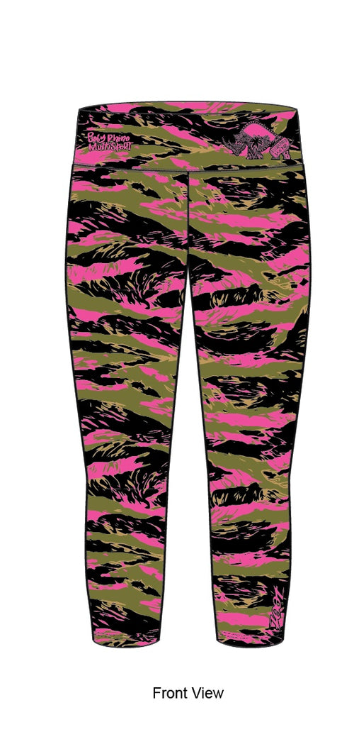 Women's Tiger Camo Capri Leggings - Baby Rhino Multisport