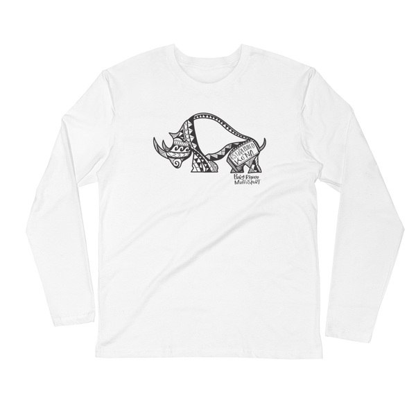 Logo Long Sleeve Fitted Crew - Baby Rhino Multisport