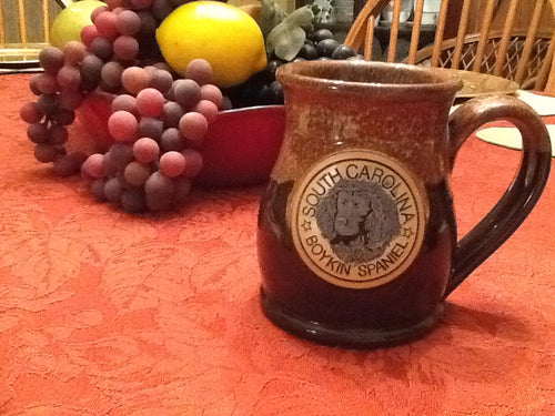 Beautiful Deneen Pottery Mug featuring the Boykin Spaniel