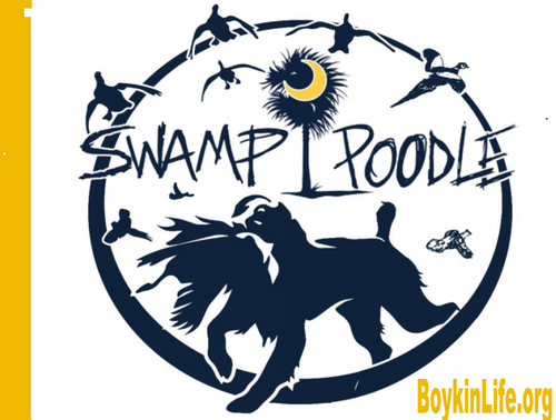 Swamp Poodle Round Sticker