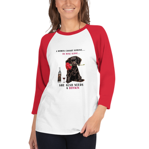 Women and wine -3/4 sleeve raglan shirt