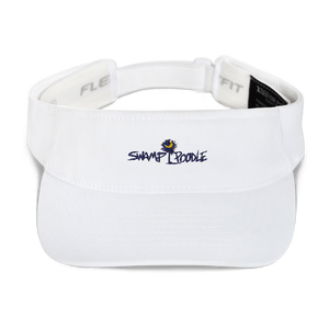 Ladies Swamp Poodle Embroidered Visor