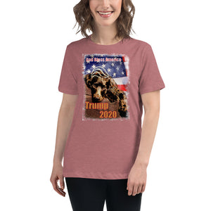 Women's Relaxed T-Shirt - TRUMP 2020