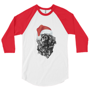 Christmas 3/4 sleeve raglan shirt