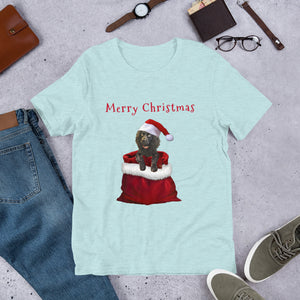 Merry Christmas Pup- Short-Sleeve Unisex T-Shirt