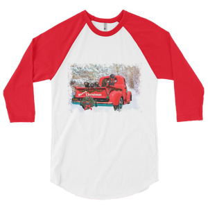 Merry Boykin Christmas-3/4 sleeve raglan shirt