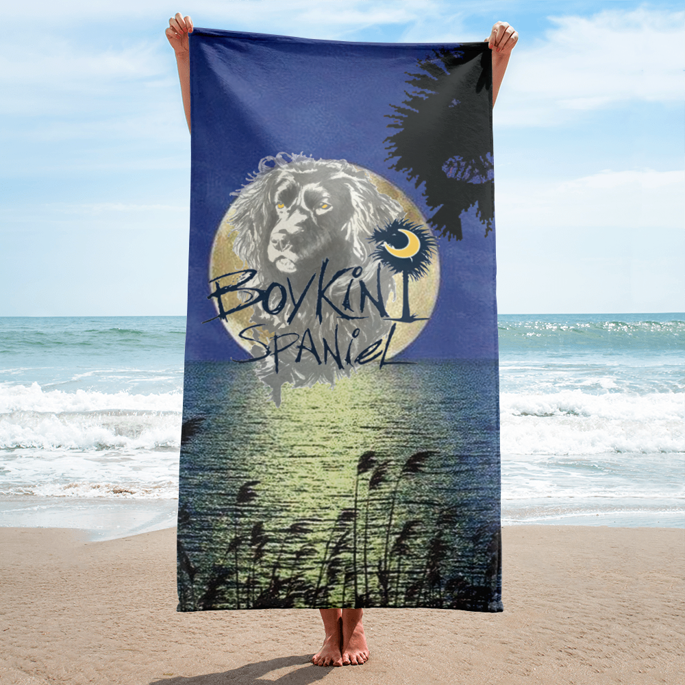 Over The Moon Beach Towel