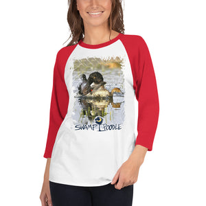 Piper-Swamp Poodle-3/4 sleeve raglan shirt